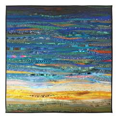 Softly, morning. An original art quilt.