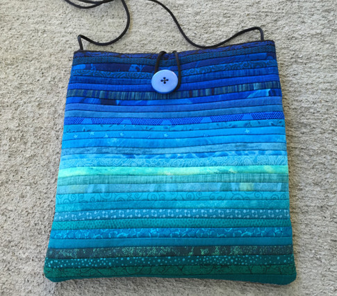 "Quilted cross shoulder bag. 8x8"""
