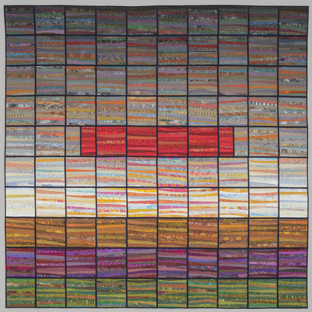 view from my window--quilt--96x96 inches--modern art--ann brauer 2018--image by John Polak