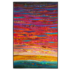 soon--original art quilt. Contemporary textile art. 32 by 48 inches.