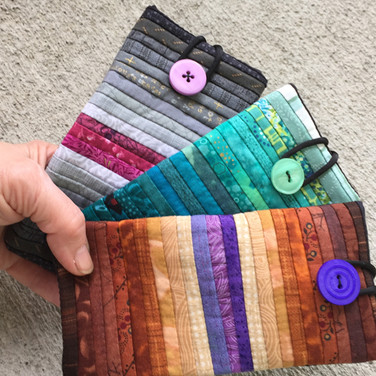 Quilted glass cases. Gift for her.