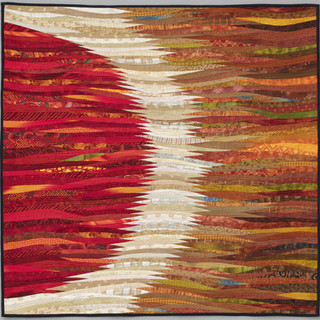 "visions of autumn--40 x 40 ""--contemporary art quilt."