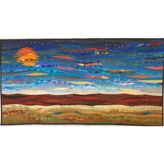 Ripening--quilt by Ann Brauer. 30 x 57 inches.