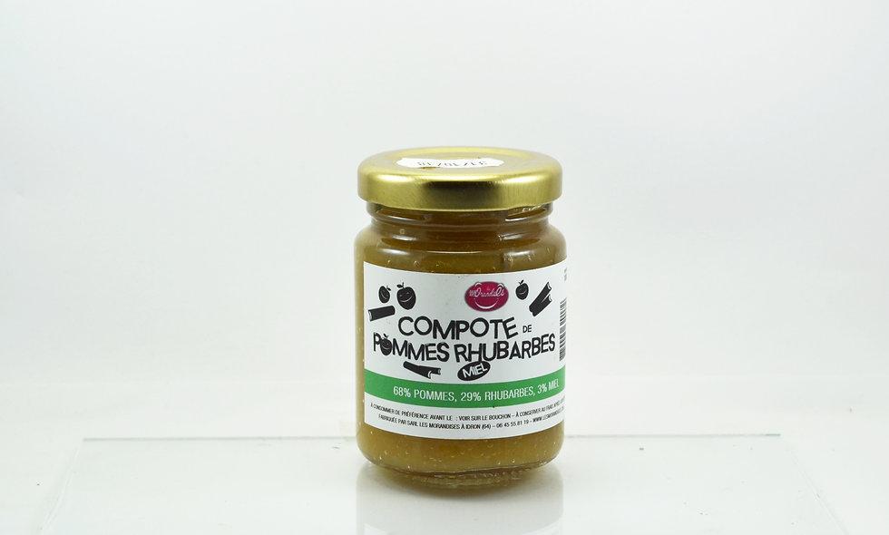 Compote de Pommes Rhubarbes Miel 100 G