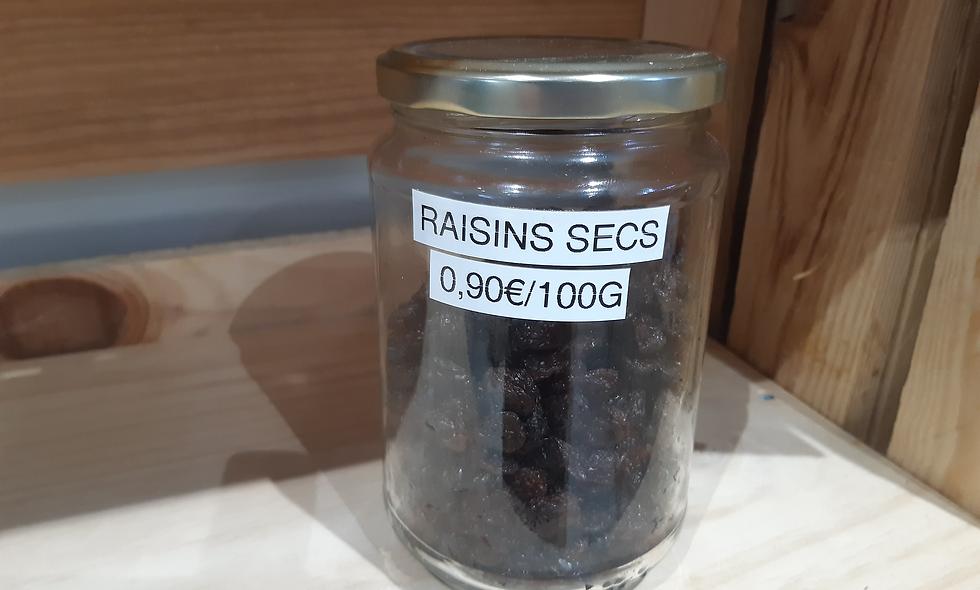 Raisins secs noir ou blanc (100g)