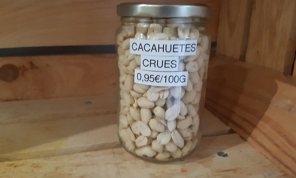 Cacahuètes crues (100g)