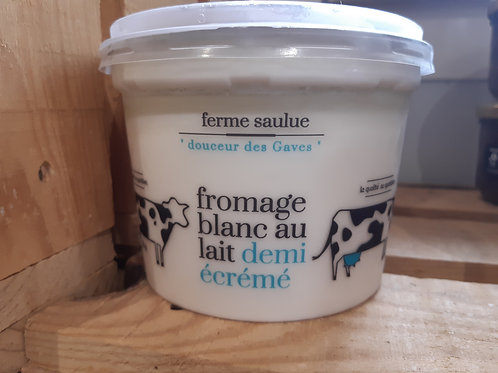Fromage blanc au lait demi écrémé 500g