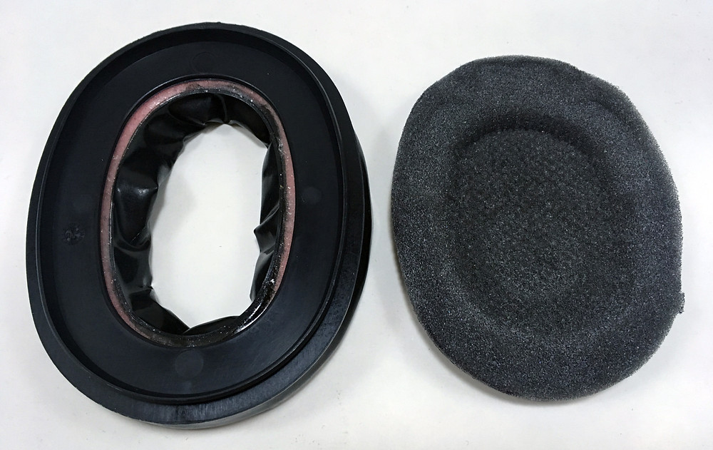 Peltor gel ear seals and acoustic foam