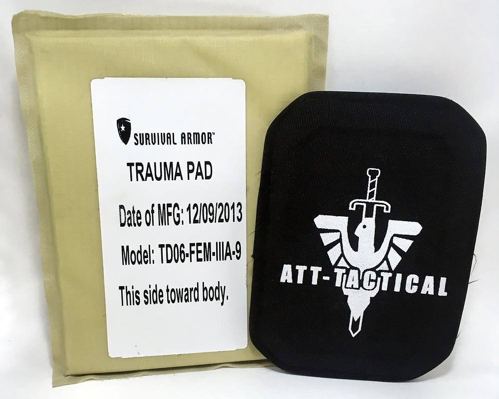 Body armor trauma pads
