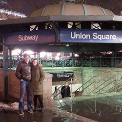 Travis and Hanna at Union Square