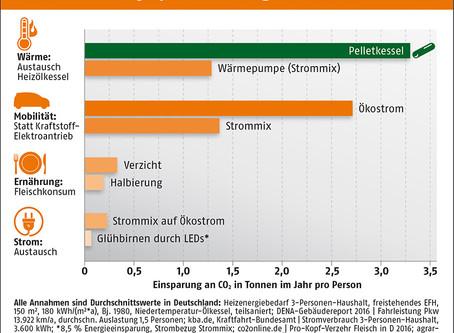 Bessere CO2-Bilanz mit Pellets.Wie trägt das Heizen mit den kleinen Presslingen zum Klimaschutz bei?