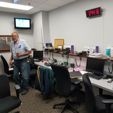 N3TN comissioning the communications room at the EOC