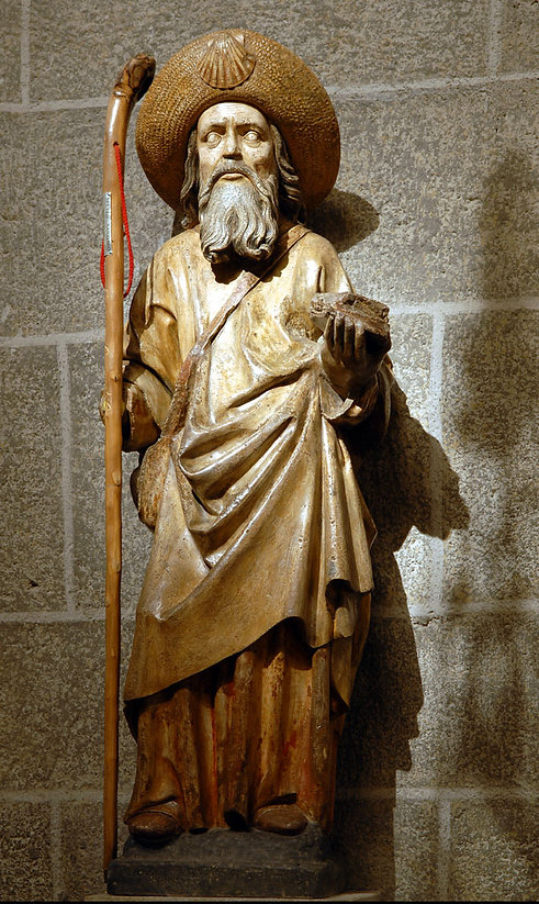 Statue of St James in Le Puy Cathedral
