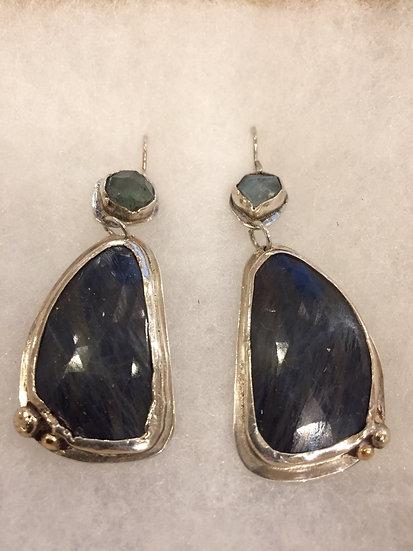 Blue Jay Earrings   by Heather Bamberg