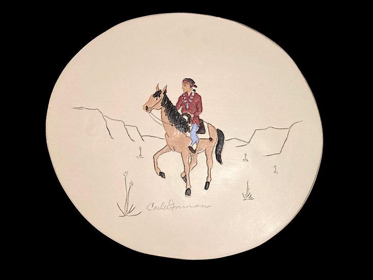 Navajo Man on Horse | Carl N. Gorman