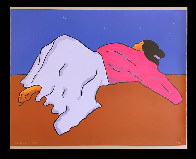 """De La Noche"", 1991, Signed Serigraph   by R.C. Gorman"