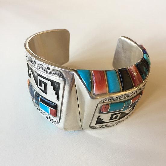 CV01 - Vinatage Navajo Overlay Bracelet