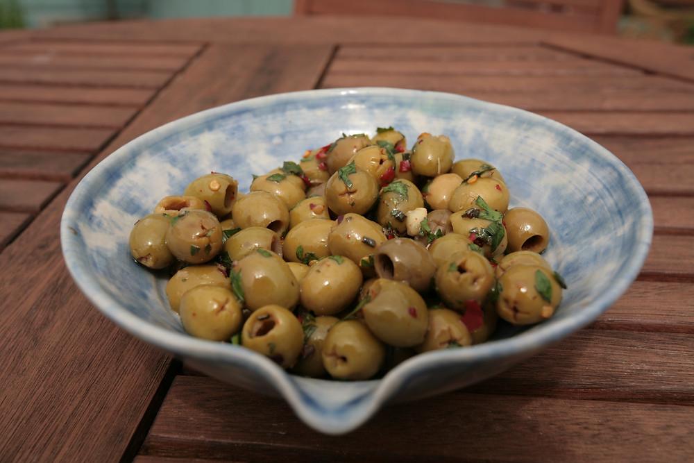 Homemade Marinaded olives