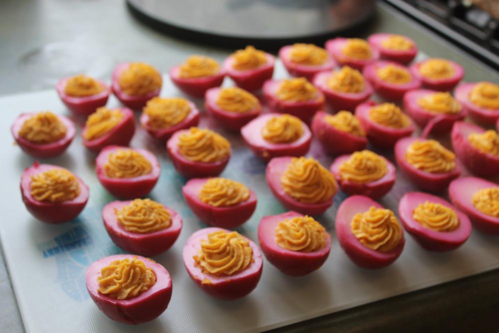 Homemade Devilled eggs