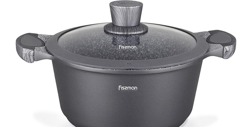 EbonyCoverings | FISSMAN Casserole With Lid with Non-Stick Coating