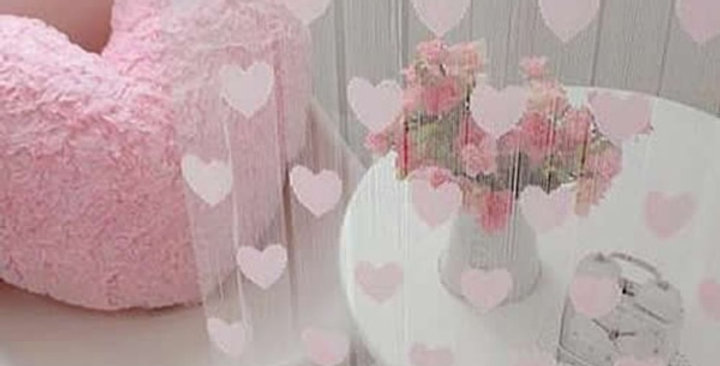 EbonyCoverings | Heart Decor Curtains