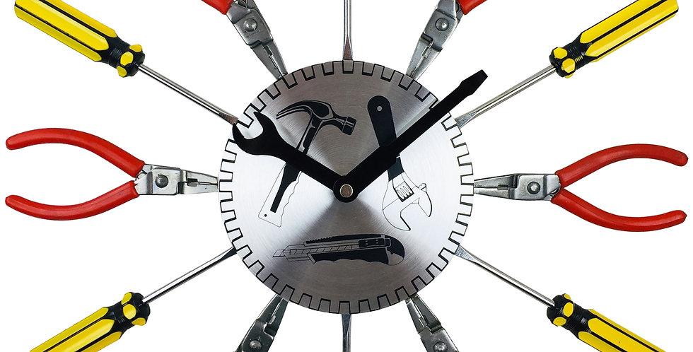 DIY Metal Tool Wall Clock 39cm