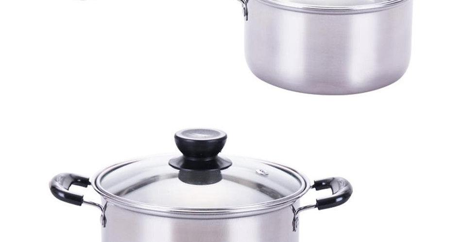 EbonyCoverings   Set of Stainless Steel Saucepans