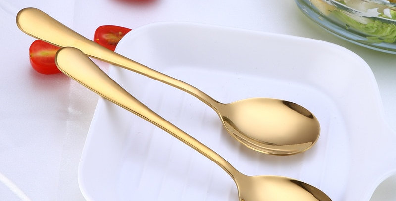 EbonyCoverings | Spklifey Gold Salad Spoons Stainless Steel