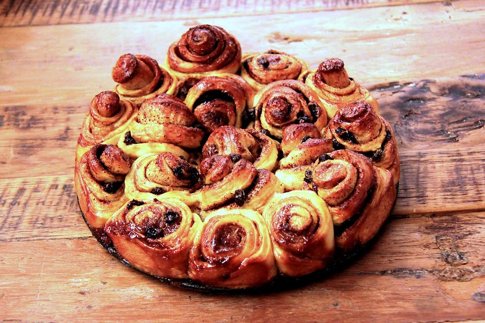 עוגת שבלולי קינמון ריחנית ונהדרת