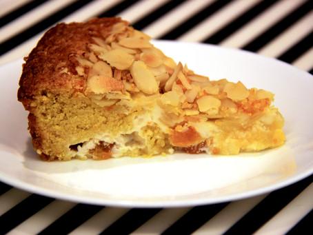 עוגת פולנטה-תפוזים במלית גבינה
