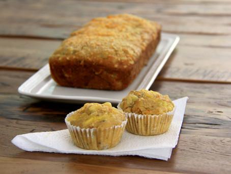 מאפינס מלוחים עם תפוחי אדמה ובצל מקורמל (+עוגה מלוחה!)
