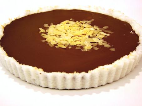 """טארט שוקולד """"באונטי"""" חגיגי"""