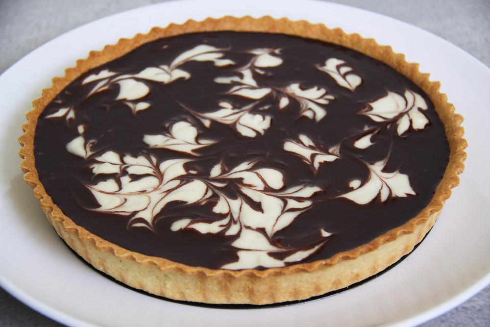 טארט שוקולד, קרם שקדים וקשיו