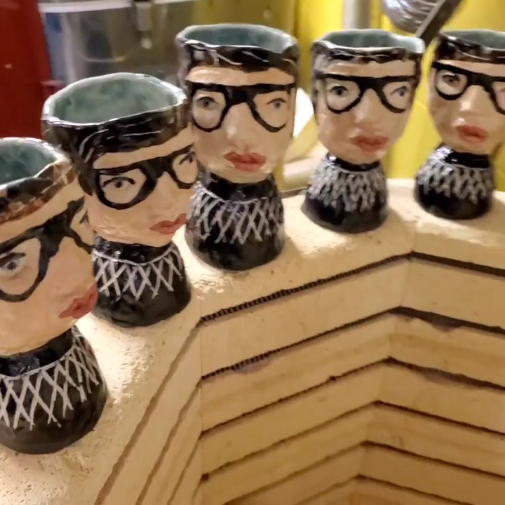 Tribute goblets to the amazing Ruth Bader Ginsburg