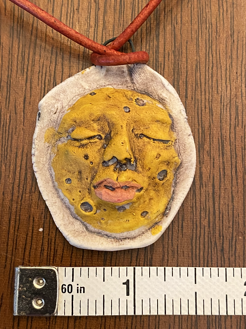 Woman in the Moon Pendant