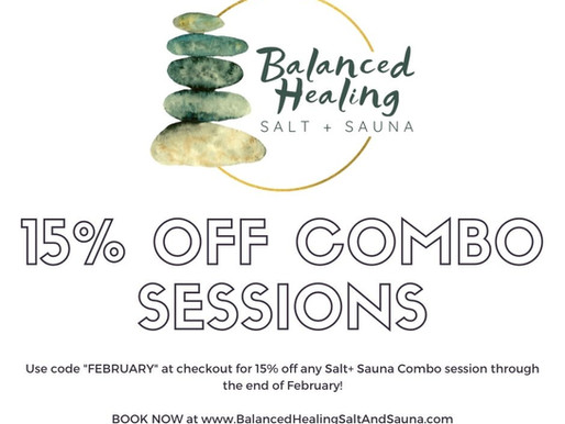 15% off Salt + Sauna Combo Sessions!