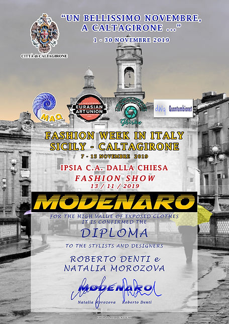 Diploma_Fashion Week in Italy-Caltagiron