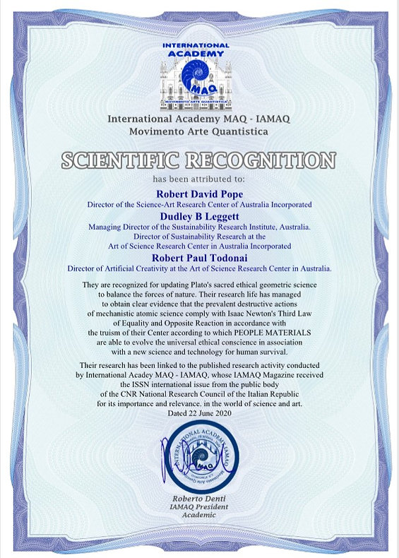 SCIENTIFIC RECOGNITION IAMAQ