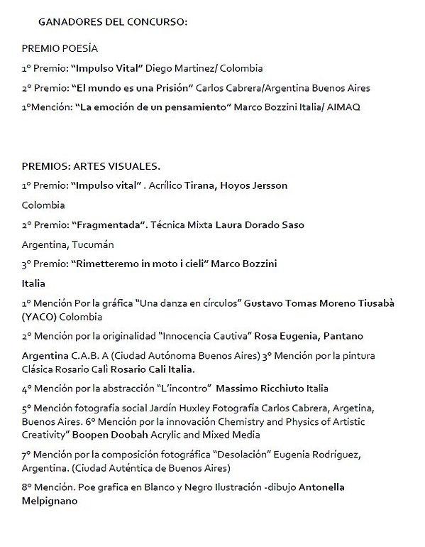 Concorso Poesia e Arti Visive-Argentina_