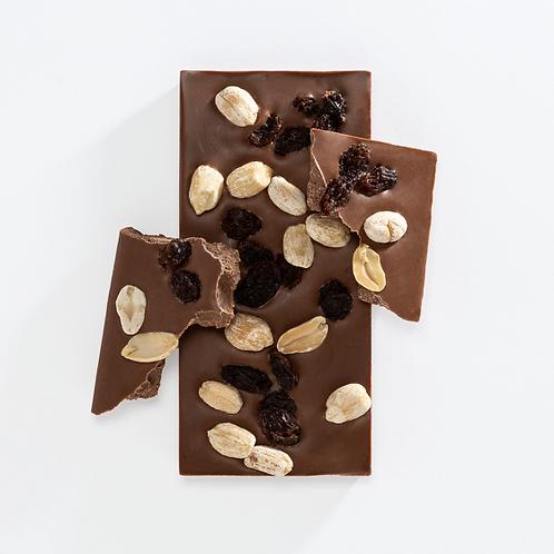 Milk Chocolate Bar - Peanut & Raisin