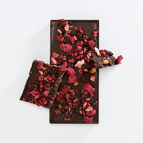 Dark Chocolate Bar - Mixed Berry