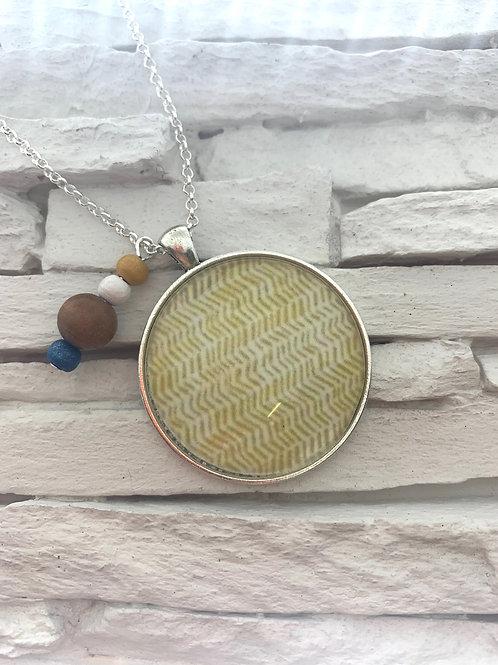 Mustard Yellow Pendant Necklace