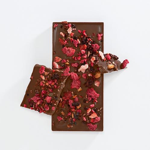 Milk Chocolate Bar - Mixed Berry