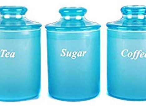 ManavYog Tea Coffee Sugar Set of 3| Air Tight Plastic Containers, 1000 ml