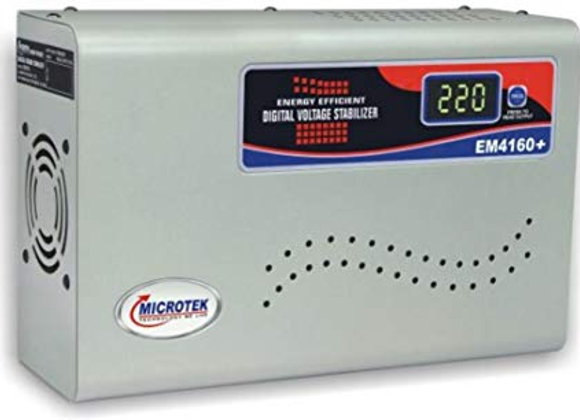 Microtek EM4160+ 160V-285V Digital Display Voltage Stabilizer (Grey)