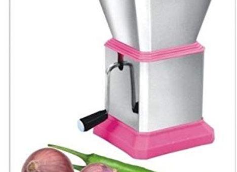 Ritu J-109 Plastic Chilly Cutter, Pink/Silver