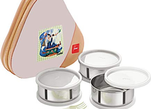 Cello Eat-N-Eat 3 Container Lunch Packs, Yellow
