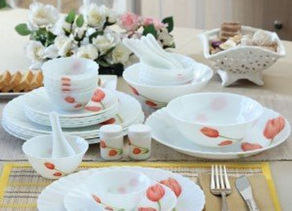 La Opala Opalware Dinner Set, 27-Pieces