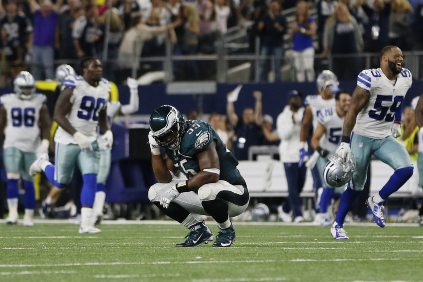 DE Brandon Graham reacts to OT Dallas TD