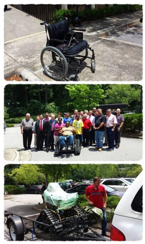 QRC Team bought a few wheelchairs!
